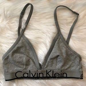 Calvin Klein Logo Wide Waistband Triangle Bralette